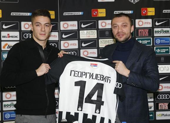 Dejan Georgijević i Ivica Iliev, sportski direktor Partizana