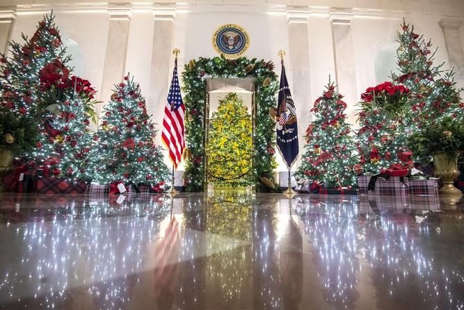 Božićna dekoracija Bele kuće