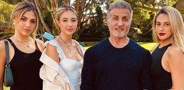 Sylvester Stallone pokazał trzy córki. Jedna piękniejsza od drugiej