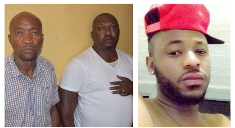 Inspector Ogunyemi Olalekan (middle) says he didn't intend to kill Kolade Johnson (right) when he shot in the air during an altercation in Lagos State that led to the death of the 36-year-old. Sergeant Godwin Orji (left) is also implicated in the shooting with both officers expected to be charged to court for murder [Facebook/Nigeria Police Force/Styles Kolade Johnson]