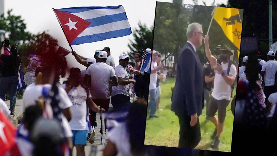 """Korespondent TVN przepędzony przez tłum. Kubańczycy krzyczeli """"wynocha!"""""""