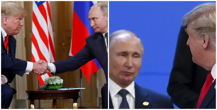 Kolaž Putin i Tramp
