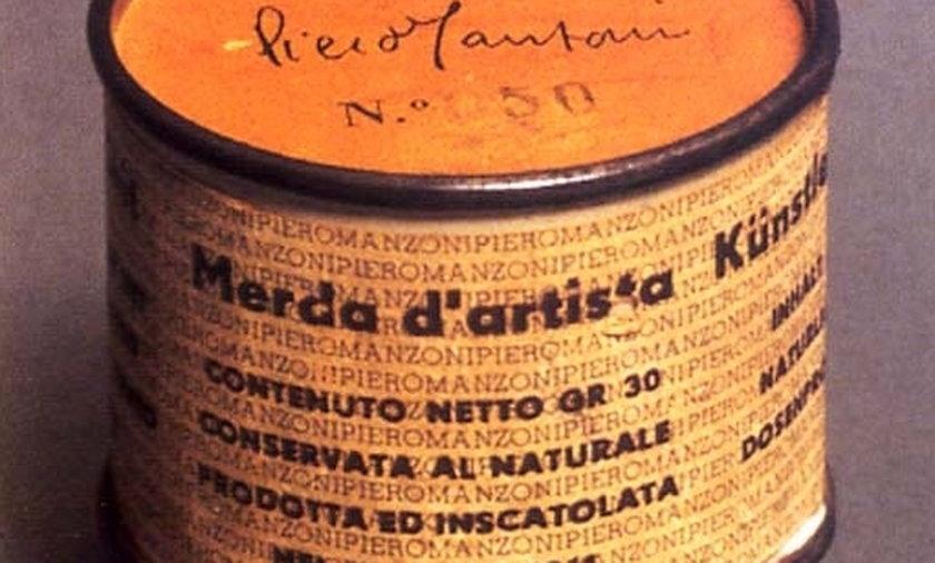 Piero Manzoni gówno puszka
