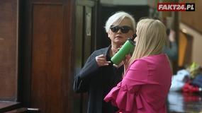 Katarzyna Figura na rozprawie rozwodowej