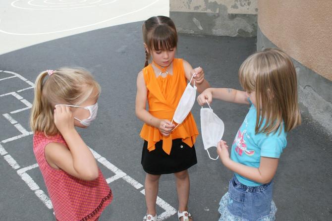 Maska kao deo igre za predškolce