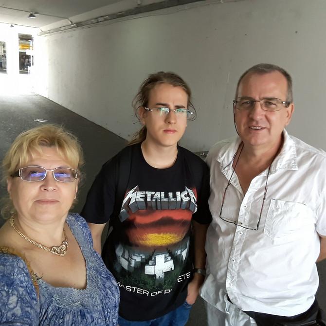 Nevena i Branislav s najmlađim sinom Dimitrijem
