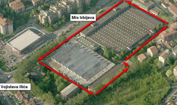 Lokacija budućeg tržnog centra