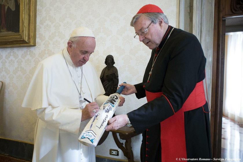Kardynał George Pell z papieżem Franciszkiem