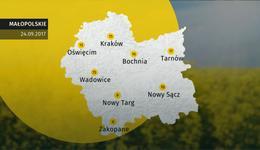 Prognoza pogody dla woj. małopolskiego - 24.09