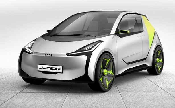 Samochód elektryczny Junior. Projektant Łukasz Myszyńki