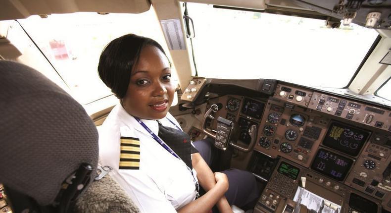 Kenya Airways pilot Captain Irene Koki Mutungi. (Forbes Africa)