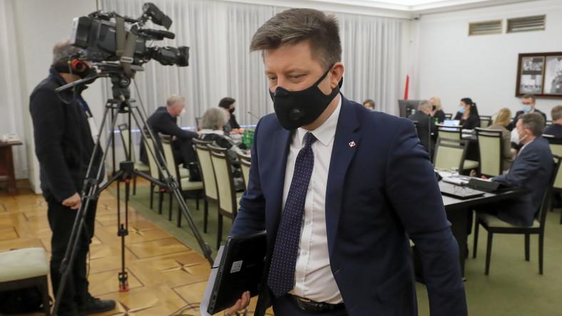 Szef KPRM i pełnomocnik rządu do spraw narodowego programu szczepień ochronnych przeciwko wirusowi SARS-CoV-2 Michał Dworczyk