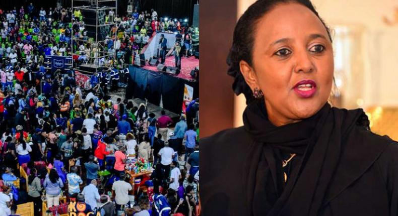 CS Amina Mohamed booed off stage at Karoga Festival