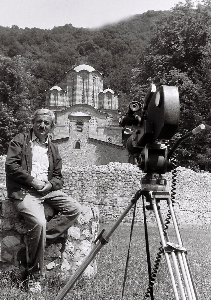 Slavuj Hadžić - Snimanje serije Gradovi mostovi - Ćuprija, 1989