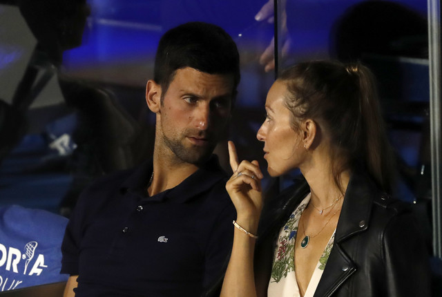 Jelena Đoković i Novak Đoković