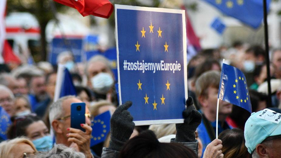 Manifestacja w obronie obecności Polski w Unii Europejskiej, Poznań