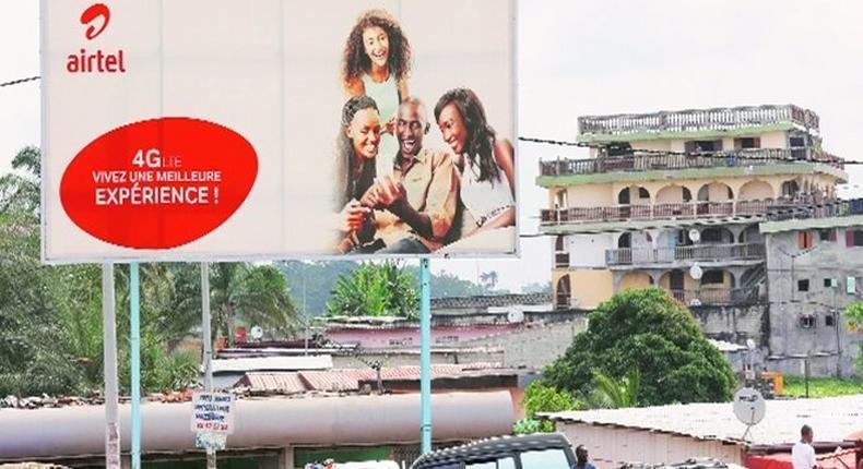 Airtel Billboard in Lagos, Nigeria