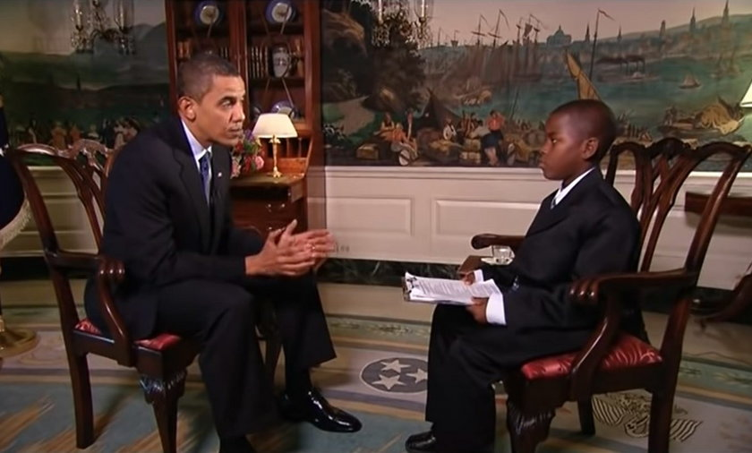 Nie żyje chłopiec, który przeprowadził słynny wywiad z Barackiem Obamą.