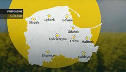 Prognoza pogody dla woj. pomorskiego - 26.09