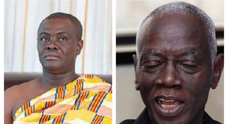 Dr Kwadwo Afari-Gyan, and the Dormaahene, Osagyefo Oseadeeyo Agyemang Badu II
