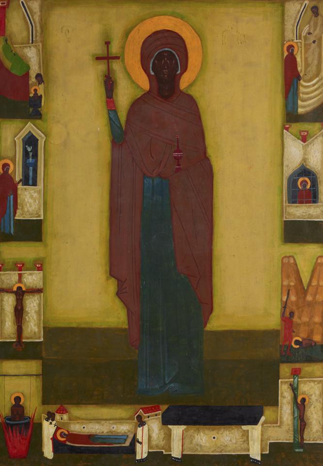 Jerzy Nowosielski, Św Paraksewa Męczennica, 1974, ikona, olej deska, fot. MNK