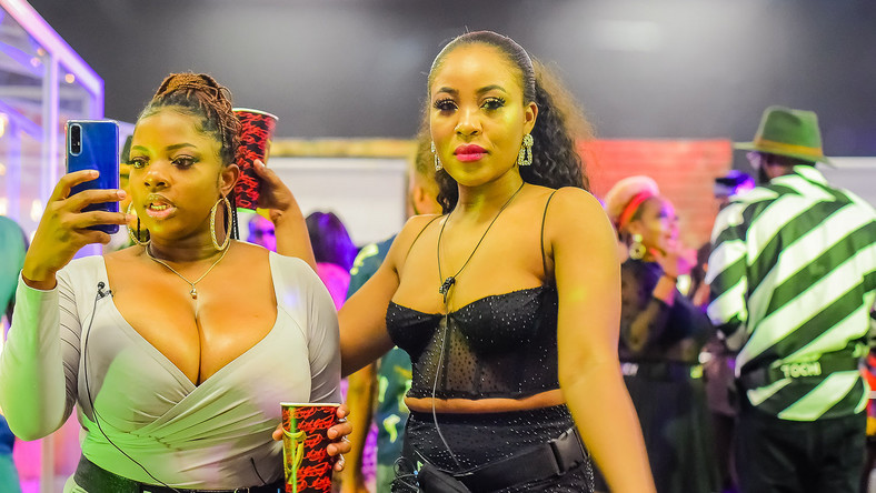 Housemates, Dorathy and Erica at the Saturday night party [BHM]
