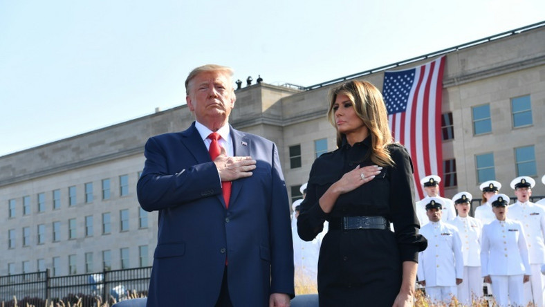 US President Donald Trump and First Lady Melania Trump attend 9/11 remembrance ceremonies where Trump says US war on Taliban intensifying