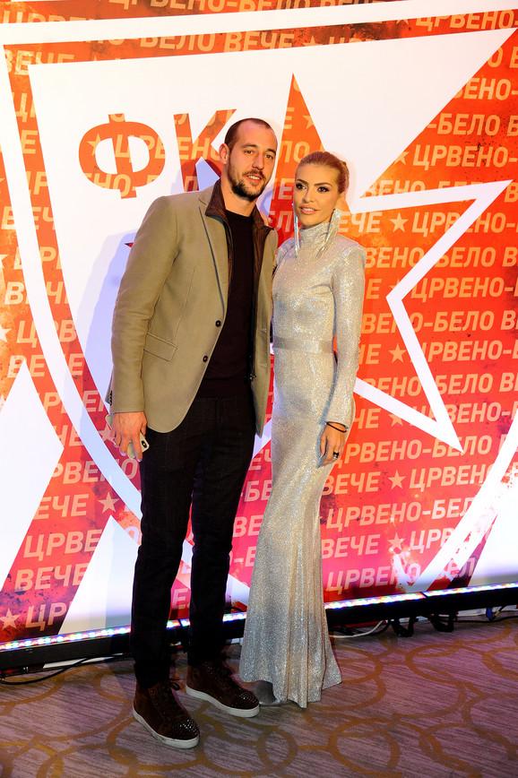 Milan Borjan sa suprugom