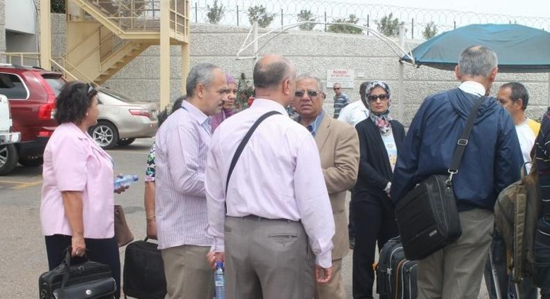 The doctors from Egypt at the Kotoka International Airport