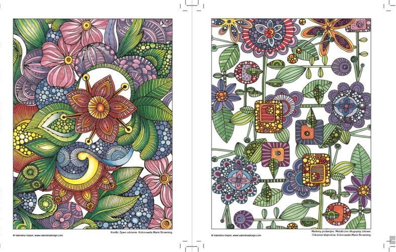 Antystresowe kreatywne kolorowanie dla dorosłych. Kwiaty Valentina Harper, wyd. Amber