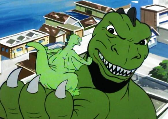 """Kadr z serialu """"Godzilla"""""""