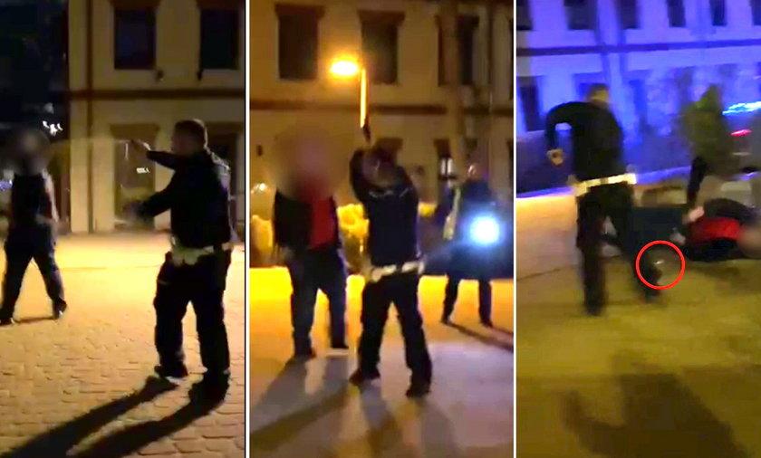 Policjant postrzelił agresywnego mężczyznę. Mamy nagranie.