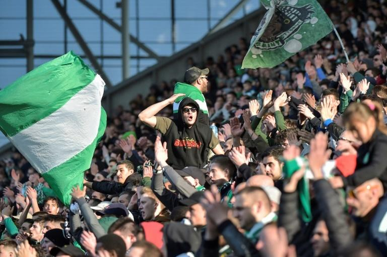 Saint-Etienne's supporters are eyeing their side's charge for a Champions League place
