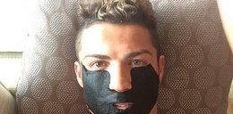 Cristiano Ronaldo z maseczką na twarzy