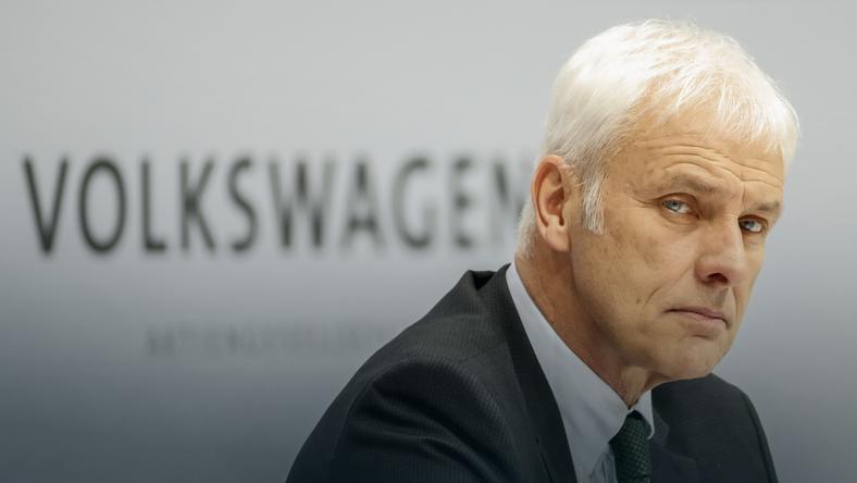 Prezes Volkswagena Matthias Mueller