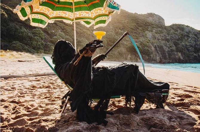 Kosač na plaži