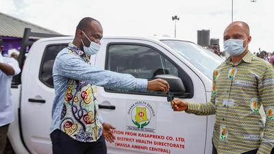 Kasapreko CEO donates ultra-modern polyclinic, Nissan Frontier to Wassa Amenfi Central