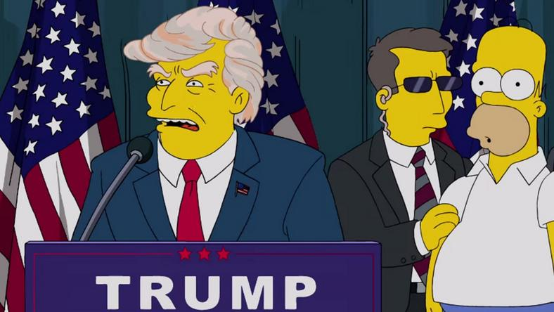 Donald Trump announcing his intention to run for President in an episode of The Simpsons in 2000