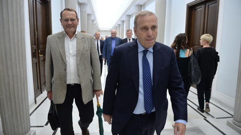Grzegorz Schetyna i Eugeniusz Kłopotek w Sejmie