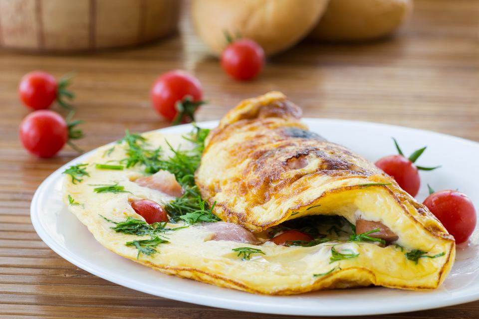 Omlet z białek, składniki na jedną porcję