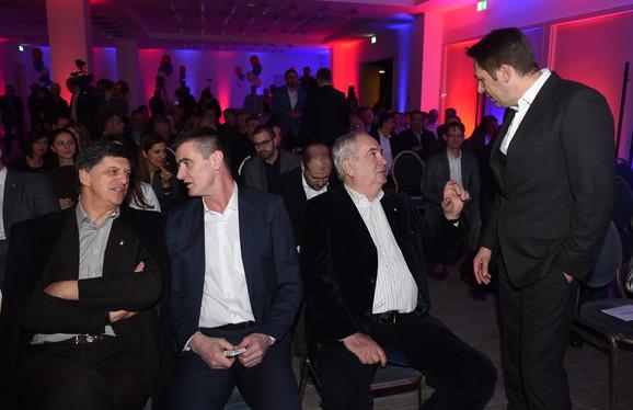 Žarko Zečević, Predrag Peruničić, Božidar Maljković i Veselin Jevrosimović