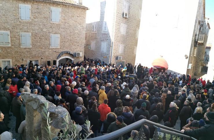 Budva, protest, CDM