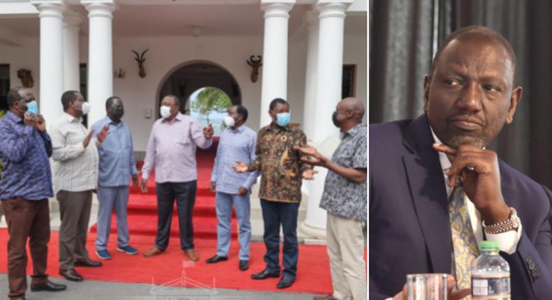 Deputy President William Ruto breaks silence on Uhuru's meeting with former NASA leaders