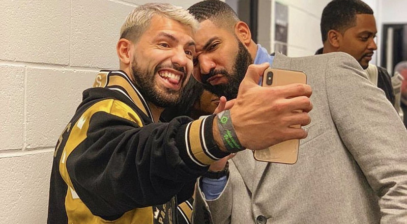 Premier League stars Pogba and Aguero hang out with Drake in Manchester