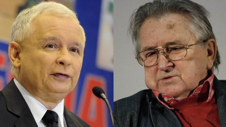 Jarosw Kaczyński i Kazimierz Kutz