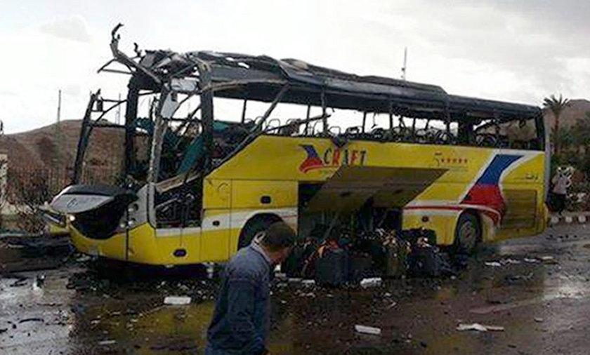 Zamach na autokar z turystami w Egipcie