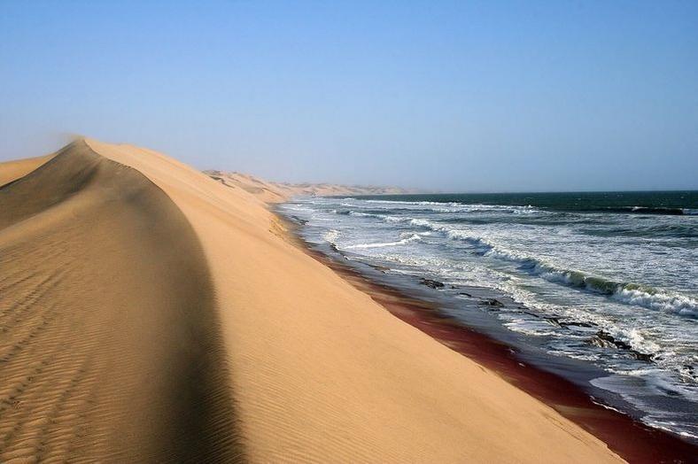 Namib desert meets sea