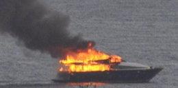 Spłonął jacht prezesa Napoli. Nakręcił to... Cannavaro