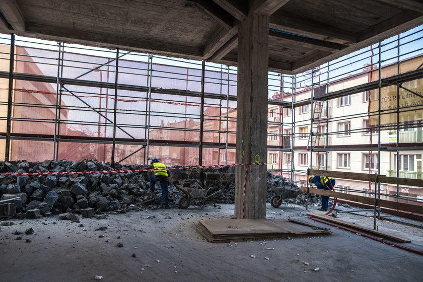 Akademik w budynku dawnej drukarni dziełowej w Łodzi