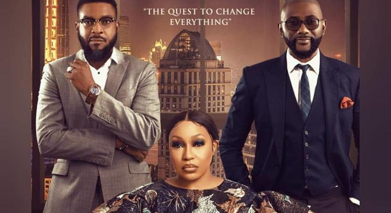 The official poster for 'the Therapist' starring Rita Dominic, Anthony Monjaro and Chidi Mokeme [Instagram/@genesiscinemas]